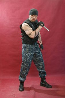 Free Battle Picture On Face And Body Stock Images - 7771064
