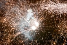 Free Fireworks In The City Stock Image - 7771531