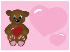 Free Valentine S Day Greeting Card Royalty Free Stock Photos - 7771698