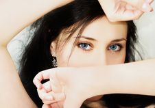 Free Blue Eyes Royalty Free Stock Photo - 7771815