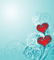 Free Hearts Background Royalty Free Stock Images - 7772009