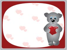 Free Valentine S Day Greeting Card Royalty Free Stock Photography - 7772047