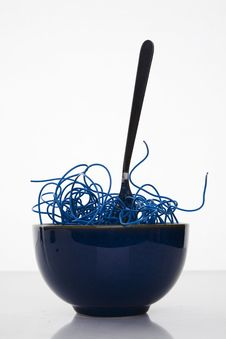 Free Blue Cyber Noodles Stock Photos - 7772433