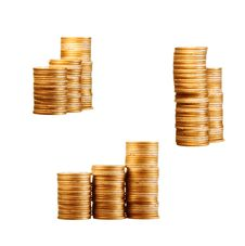 Free Coins On White Royalty Free Stock Photo - 7773055
