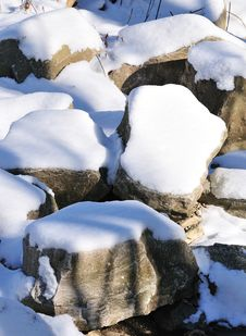 Free Snow On The Pebbles Stock Photography - 7773302