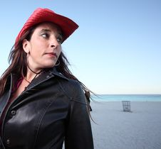 Free Red Hat And Leather Jacket Stock Photos - 7773343