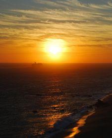 Cruise Into The Sunset Stock Photo