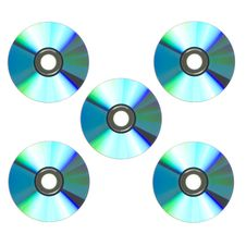 Free Five Blue Cds In A Square Stock Photos - 7773633