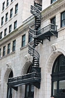 Free Spiral Fire Escape Stock Image - 7774401