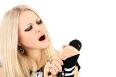 Free Rock-n-roll With The Beautiful Blonde Stock Photography - 7775632