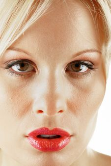 Attractive Blonde Female Beauty Royalty Free Stock Photography
