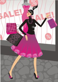 Free Woman Shopping Stock Photo - 7776390
