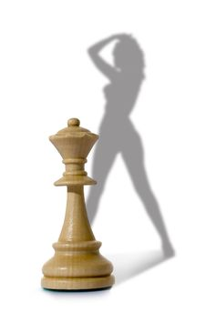 Free Chess Composition With Lady Stock Photos - 7776523