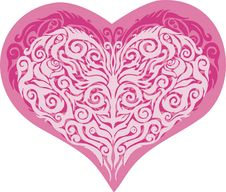 Free Vector Valentine Heart Stock Images - 7777044