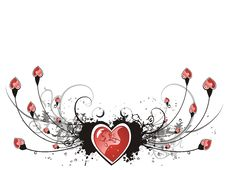 Free Valentine Grunge Heart Floral Royalty Free Stock Photos - 7777278