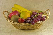 Free Fruit Basket Royalty Free Stock Photos - 7777288