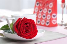 Free Cup With Rose Stock Photos - 7777323