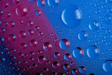 Free Blue And Pink Water Drops Stock Image - 7777501