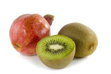 Pomegranate And Kiwi Fruit Royalty Free Stock Images