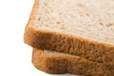 Wholemeal Bread Slices Isolated Stock Photo