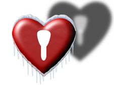 Free Snowy Heart Royalty Free Stock Images - 7779049