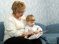 Portrait Of The Grandmother With The Grandson Royalty Free Stock Photo