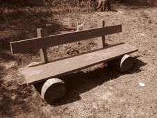 Free A Self-made Shabby Bench Stock Photo - 7779290