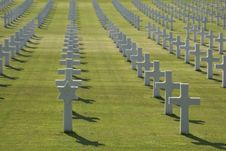 American War Cemetery Stock Photography