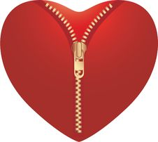Free Zip Opening Love Heart Royalty Free Stock Photos - 7779488
