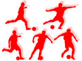 Free Football Players Silhouette Royalty Free Stock Photos - 7780488
