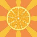 Free Orange On Rays Background Royalty Free Stock Photos - 7784188