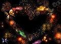 Free Beautiful Big Firework Heart Royalty Free Stock Photos - 7788998