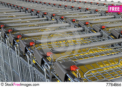 Free Shopping Carts. Royalty Free Stock Image - 7784866