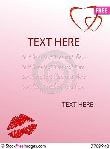 Valentine S Love Letter  Free Stock Images  Photos  7789940