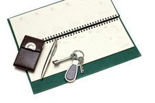 Free Diary, Handle And Keys Stock Image - 7780051