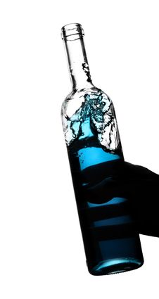 Free Bottle With Blue Water Stock Photo - 7780260
