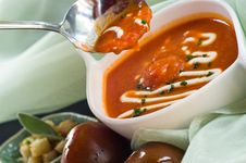 Free Tomato Soup Royalty Free Stock Photography - 7781617