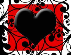 Free Black Heart Royalty Free Stock Image - 7782246