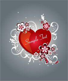 Free Background With Heart For Valentine Day Stock Image - 7782611