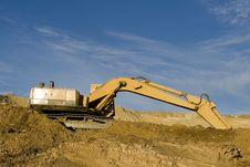 Free Excavator On Construction Site Stock Photography - 7783052
