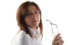 Free Business Woman Hold Glasses Stock Photo - 7783580