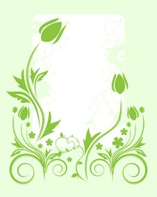 Free Green Floral Background Stock Images - 7783594