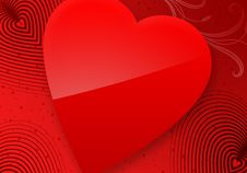 Red Valentine S Day Illustrated Heart Royalty Free Stock Photo