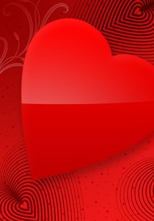 Free Red Valentine S Day Illustrated Heart II Stock Images - 7783854