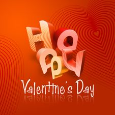 Free Happy Valentine S Day Illustrated Types I Royalty Free Stock Photography - 7783857