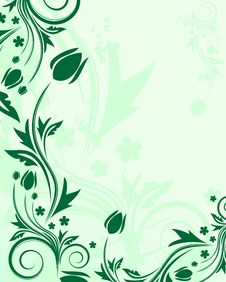 Free Green Floral Background Stock Photo - 7784120