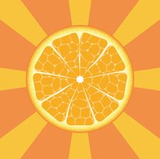 Free Orange On Rays Background Royalty Free Stock Photos - 7784188