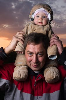 Free Baby With Grandfather Stock Photo - 7784370