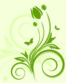 Free Green Floral Background Royalty Free Stock Photos - 7784588