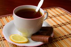 Free Black Tea And Sweets Royalty Free Stock Images - 7784749